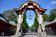 Puerta del parque zoológico de Berlín Fotografía de archivo libre de regalías