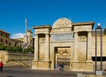 Puerta del Puente Córdova, a Andaluzia spain Imagens de Stock