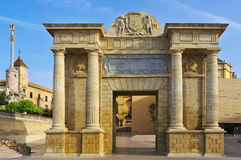 Puerta del Puente a Cordova, Spagna Fotografie Stock Libere da Diritti