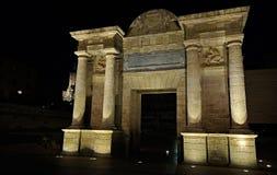 The Puerta del Puente (the Gate of the Bridge), Cordoba, Spain Stock Images