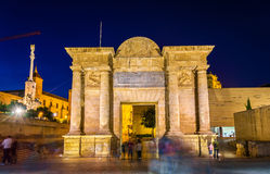 Puerta del Puente, a renaissance gate in Cordoba, Spain Royalty Free Stock Photo