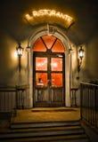 Puerta del restaurante Fotografía de archivo libre de regalías