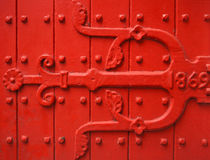 Puerta del rojo de la vendimia Imagen de archivo