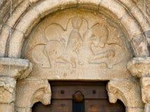 Puerta del romanesque de Santiago de Taboada Imagen de archivo