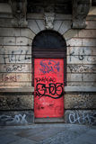 Puerta del rosa de Streetart Imagenes de archivo