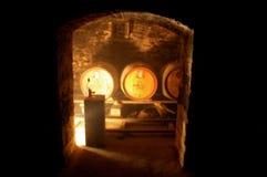 Puerta del sótano Imagenes de archivo