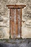 Puerta del sótano con la herradura Fotografía de archivo libre de regalías