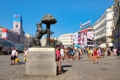 Puerta del Sol, ένα από τα πιό πολυάσχολα μέρη στη Μαδρίτη, Ισπανία Στοκ φωτογραφία με δικαίωμα ελεύθερης χρήσης
