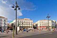 Puerta del Sol, Μαδρίτη Στοκ Φωτογραφία