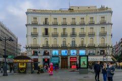 Puerta del Sol πλατεία, στη Μαδρίτη Στοκ φωτογραφίες με δικαίωμα ελεύθερης χρήσης