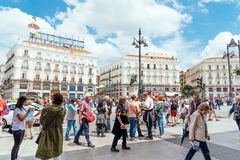 Puerta del Sol πλατεία στη Μαδρίτη Στοκ Εικόνες