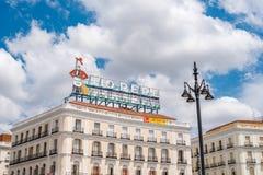 Puerta del Sol πλατεία στη Μαδρίτη Στοκ εικόνα με δικαίωμα ελεύθερης χρήσης