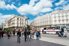 Puerta del Sol πλατεία στη Μαδρίτη Στοκ Εικόνα