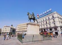 Puerta del Sol στη Μαδρίτη Στοκ εικόνες με δικαίωμα ελεύθερης χρήσης