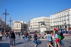 Puerta del Sol в Мадриде стоковая фотография