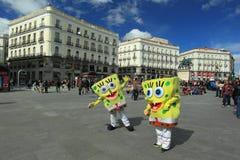Puerta del Sol в Мадриде Стоковые Изображения