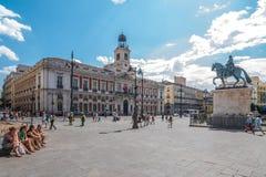 Puerta del Sol, Мадрид, Испания Стоковое Изображение