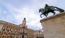 Puerta del Sol arkivfoton