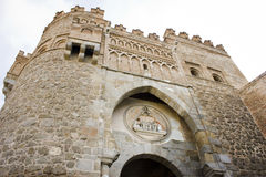 Puerta del Sol, a city gate of Toledo Royalty Free Stock Images