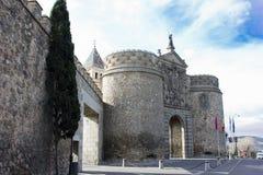 Puerta del Sol, een stadspoort van Toledo Stock Foto's
