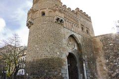 Puerta del Sol, een stadspoort van Toledo Stock Foto