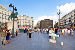 Puerta del Sol, Madrid Royalty-vrije Stock Foto's