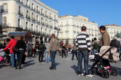 Puerta del Sol, Madrid Royalty Free Stock Image