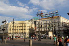 Puerta del Sol, Madrid Immagine Stock Libera da Diritti