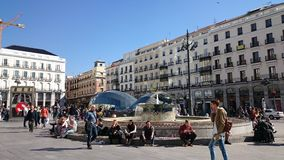 Puerta del Sol, Madrid. People in Puerta del Sol, Madrid, Spain Stock Photography