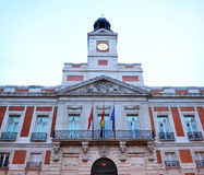 Puerta del Sol, Madrid, Spain. Plaza located in the downtown of Madrid named Gate of Sun (Puerta del Sol), Spain Royalty Free Stock Image
