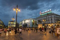 Puerta del Sol, Madrid, Spain stock photography