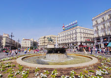Puerta del Sol in Madrid. Spain, Madrid, View of the Puerta del Sol Square stock photo
