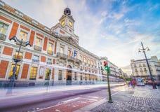 Puerta-del Sol Square stockbilder