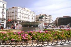 Puerta del Sol square in Madrid, Spain. Stock Photos