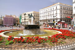 Puerta del Sol square in Madrid, Spain. Royalty Free Stock Photos