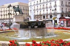 Puerta del Sol square in Madrid, Spain. Royalty Free Stock Photography