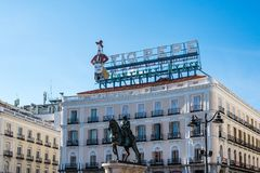 Puerta del Sol square in Madrid, Spain royalty free stock images