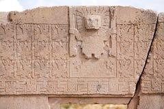 Puerta del sol on Tiwanaku Royalty Free Stock Photos