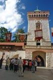 Puerta del St Florian gótico Imagenes de archivo