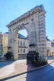 Puerta del St Nicolás, en Beaune imagen de archivo