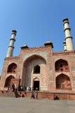 Puerta del sur de la tumba de Akbar el grande Imágenes de archivo libres de regalías