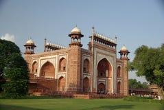 Puerta del Taj Mahal, la India Fotos de archivo libres de regalías