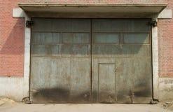 Puerta del taller Foto de archivo