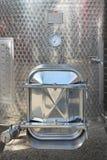 Puerta del tanque de Silo Imagen de archivo libre de regalías
