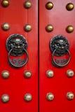 Puerta del templo chino Imágenes de archivo libres de regalías