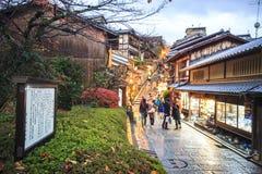 Puerta del templo de Kiyomizu-dera en Kyoto, Japón Fotos de archivo libres de regalías