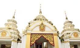 Puerta del templo en Tailandia Fotografía de archivo libre de regalías