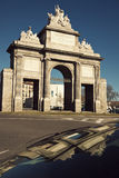 Puerta del Toledo. Arch in the center of Madrid Royalty Free Stock Image