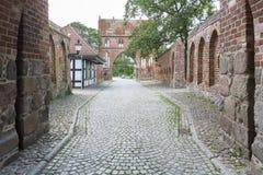 Puerta del Tor de Stargarder en Neubrandenburg, Alemania foto de archivo libre de regalías