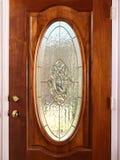 Puerta del vidrio manchado Fotografía de archivo
